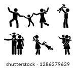 stick figure happy family... | Shutterstock . vector #1286279629