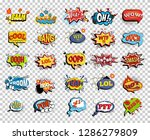 set of comic speech bubbles or... | Shutterstock .eps vector #1286279809