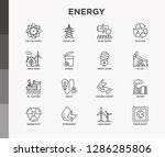 energy thin line icon  factory  ... | Shutterstock .eps vector #1286285806