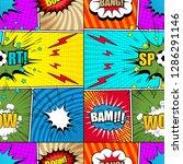 comic bright seamless pattern... | Shutterstock .eps vector #1286291146