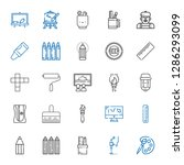 draw icons set. collection of... | Shutterstock .eps vector #1286293099
