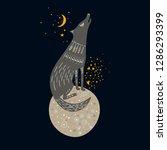 vector childish hand drawn...   Shutterstock .eps vector #1286293399