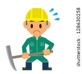 worker | Shutterstock .eps vector #128630258