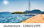 panoramic summer wiew of port... | Shutterstock . vector #1286311399