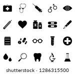 flat monochrome medical icon...