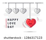 happy love day. trendy flat...   Shutterstock .eps vector #1286317123