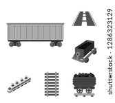 vector illustration of railroad ... | Shutterstock .eps vector #1286323129
