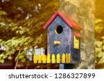 Colorful Bird House With A...