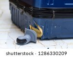 traveling suitcase damaged at...   Shutterstock . vector #1286330209