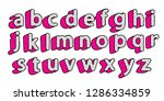 cute black dots 3d english... | Shutterstock .eps vector #1286334859