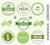 organic food labels | Shutterstock .eps vector #128633630