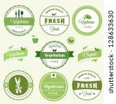 organic food labels | Shutterstock .eps vector #128633630