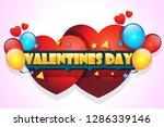 valentine day wallpaper   Shutterstock .eps vector #1286339146