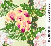 seamless texture bouquet with... | Shutterstock .eps vector #1286355286