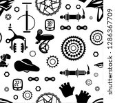 bicycles. seamless pattern of... | Shutterstock .eps vector #1286367709