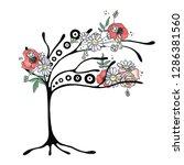 vector hand drawn graphic... | Shutterstock .eps vector #1286381560