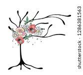 vector hand drawn graphic... | Shutterstock .eps vector #1286381563