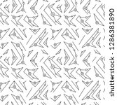 seamless vector pattern. black... | Shutterstock .eps vector #1286381890