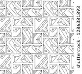 seamless vector pattern. black... | Shutterstock .eps vector #1286381893