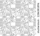 seamless vector pattern. black... | Shutterstock .eps vector #1286381896