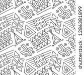 seamless vector pattern  black... | Shutterstock .eps vector #1286381899