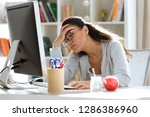 shot of tired young business... | Shutterstock . vector #1286386960
