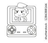 video games design | Shutterstock .eps vector #1286388166