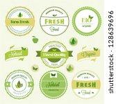 organic food labels | Shutterstock .eps vector #128639696