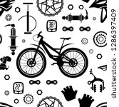 bicycles. seamless pattern of... | Shutterstock .eps vector #1286397409