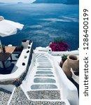 santorini island  greece  ... | Shutterstock . vector #1286400199