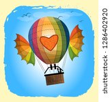 a large balloon of unusual... | Shutterstock .eps vector #1286402920