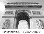 arc de triumph   exterior | Shutterstock . vector #1286409070