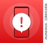 alert message mobile... | Shutterstock .eps vector #1286411836