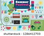 summer festival event map... | Shutterstock .eps vector #1286412703