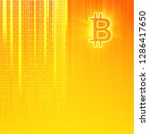 virtual currency background.... | Shutterstock .eps vector #1286417650
