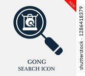 gong search icon. editable gong ...   Shutterstock .eps vector #1286418379