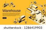 warehouse logistics and...   Shutterstock . vector #1286419903