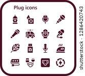 plug icon set. 16 filled plug... | Shutterstock .eps vector #1286420743