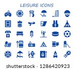 leisure icon set. 30 filled... | Shutterstock .eps vector #1286420923