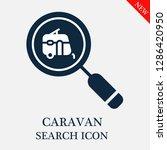 caravan search icon. editable...   Shutterstock .eps vector #1286420950
