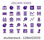 column icon set. 30 filled... | Shutterstock .eps vector #1286422033