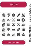 pretzel icon set. 25 filled... | Shutterstock .eps vector #1286422180