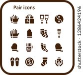 pair icon set. 16 filled pair... | Shutterstock .eps vector #1286424196