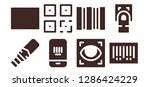 scanning icon set. 8 filled... | Shutterstock .eps vector #1286424229