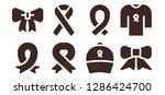 genuine icon set. 8 filled... | Shutterstock .eps vector #1286424700