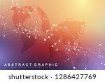 big data visualization. graphic ... | Shutterstock .eps vector #1286427769