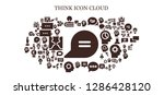 think icon set. 93 filled... | Shutterstock .eps vector #1286428120
