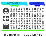 recycle icon set. 120 filled... | Shutterstock .eps vector #1286428453