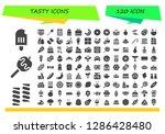 tasty icon set. 120 filled...   Shutterstock .eps vector #1286428480