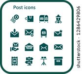 post icon set. 16 filled post... | Shutterstock .eps vector #1286429806